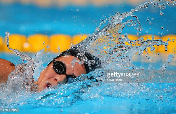 Boglarka Kapas of Hungary competes during the Swimming Women's 800m Freestyle preliminaries heat three on day fourteen of the 15th FINA World...