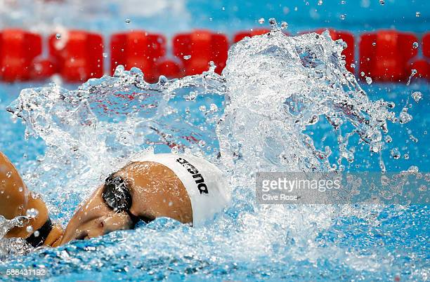 Boglarka Kapas of Hungary competes in the Women's 800m Freestyle heat on Day 6 of the Rio 2016 Olympic Games at the Olympic Aquatics Stadium on...