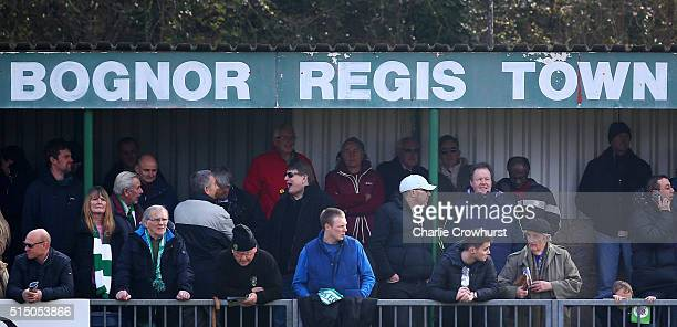 Bognor Regis fans pack out the ground during the FA Trophy Semi Final 1st Leg match between Bognor Regis Town and Grimsby Town at Neywood Lane on...
