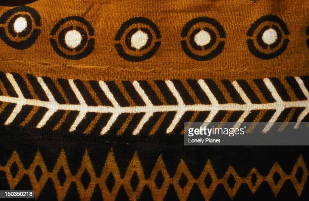 A Bogolan (hand-painted mud cloth) from Mali.