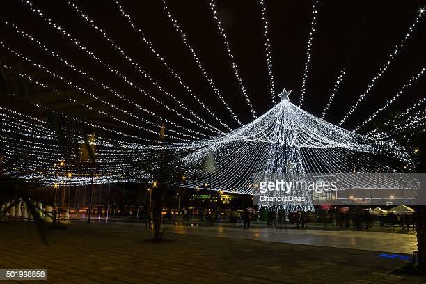 Bogotá Colombia - Christmas lights at Centro Comercial Gran Estación
