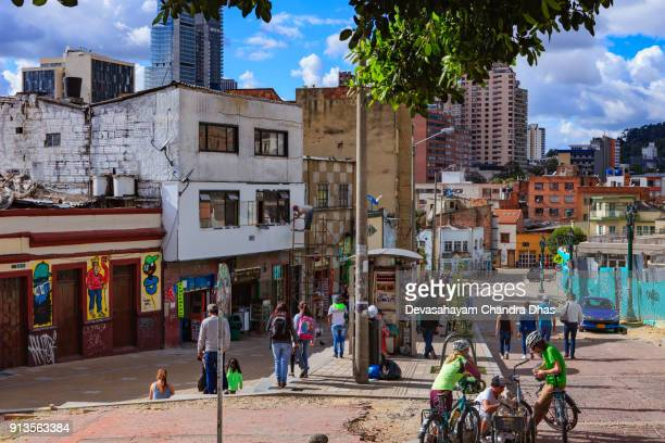 Bogotá, Colombia - Local Colombians In Historic La Candelaria District of The Andean Capital City
