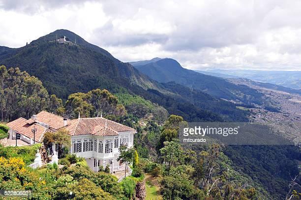 Bogotá: view from Cerro de Monserrate to Cerro de Guadalupe