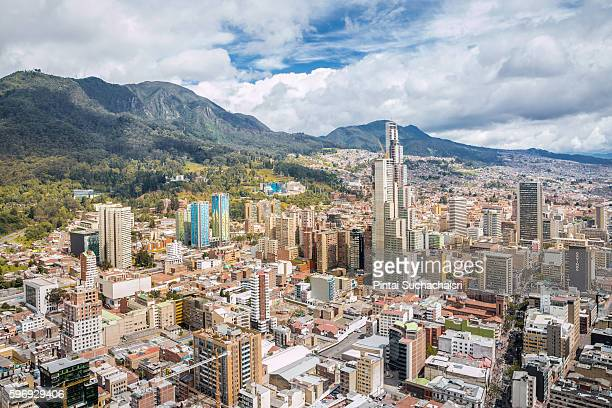 bogota city view from above - colombia stock pictures, royalty-free photos & images