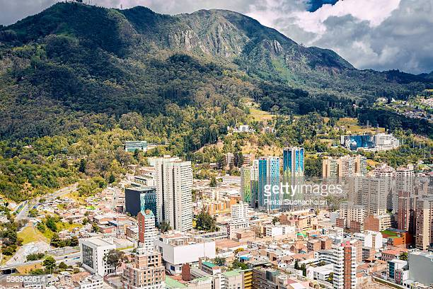 Bogota City View from Above