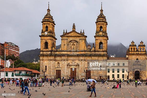 Bogota, Colombia: Catedral Primada, Plaza Bolivar, Classical Spanish Colonial Architecture