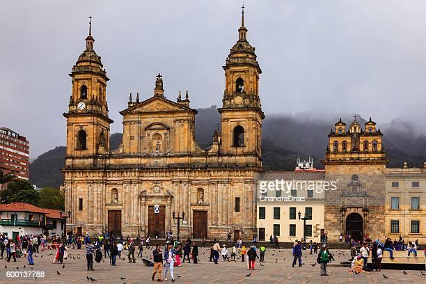 Bogota, Colombia: Catedral Primada, Plaza Bolivar, Spanish Colonial Architecture