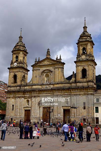 Bogota, Colombia - Cathedral Primada; classic Spanish colonial architecture