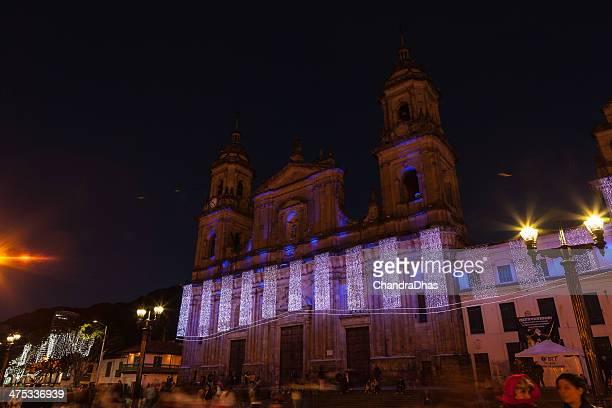 Bogota, Colombia - Christmas lights on Plaza de Bolivar