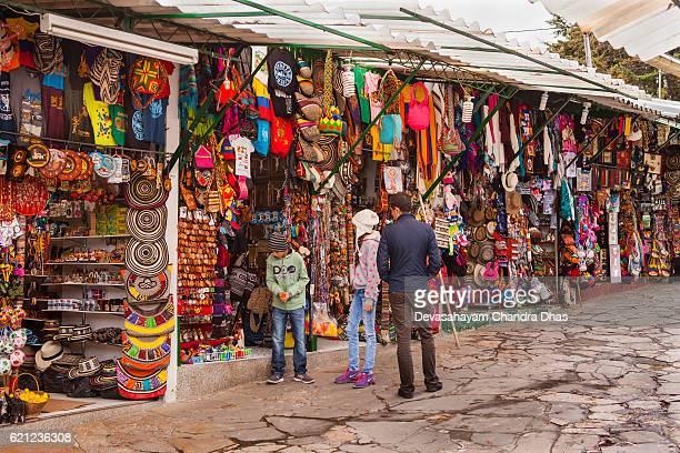 Bogota, Colombia - Colourful Souvenirs on Monserrate Peak for Tourists