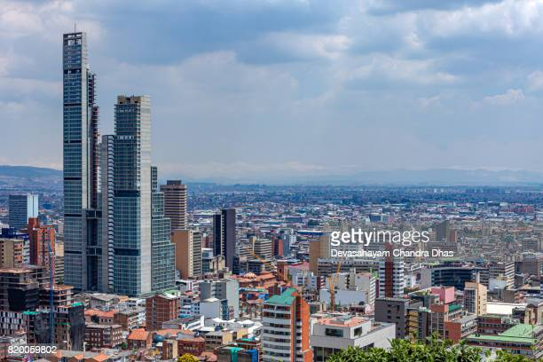 Bogota, Colombia - High Angle View of South American Capital CIty on the Andes Mountains