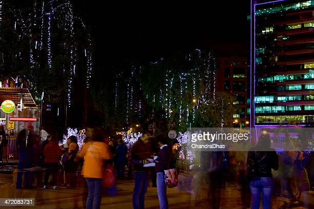 Christmas In Colombia South America.Bogota Colombia In South America Christmas Celebration