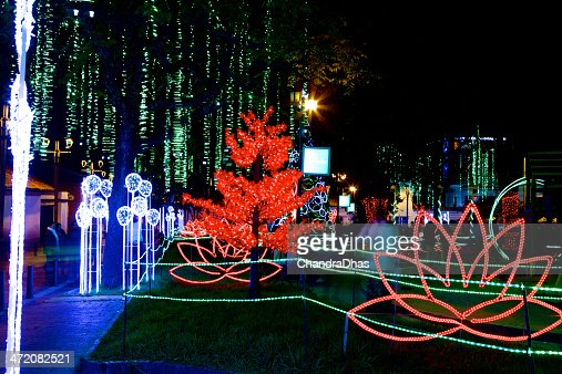 Christmas In Colombia South America.Bogota Colombia In South America Christmas Lights In Park