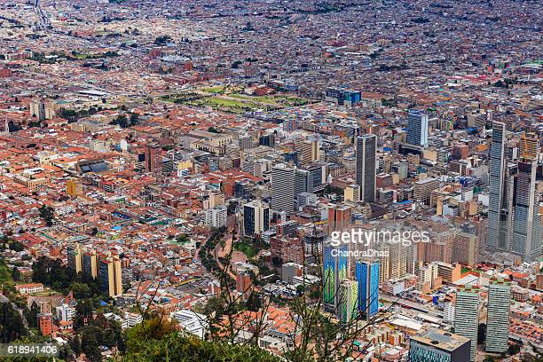 Bogota, Colombia - old and new citycentre viewed from Monserrate