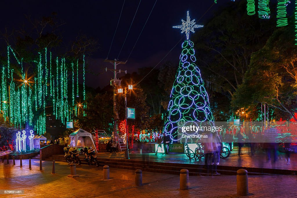 Christmas In Colombia South America.Bogota Colombia South America Christmas Celebration Lights