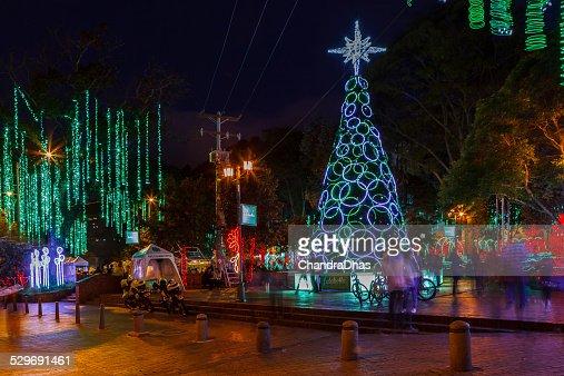 Christmas Celebration In America.Bogota Colombia South America Christmas Celebration Lights
