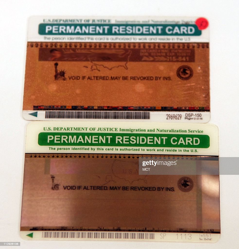 Bogus Top And Real Bottom Permanent Resident Card Commonly Called A Picture Id