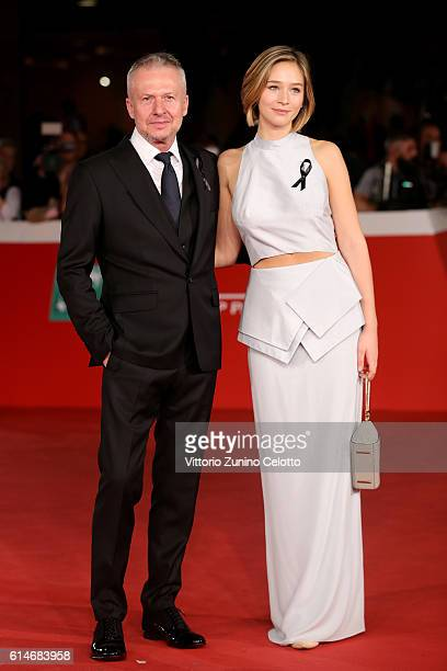 Boguslaw Linda and Zofia Wichlacz walk a red carpet for 'Snowden' And 'Powidoki Afterimage' during the 11th Rome Film Festival at Auditorium Parco...