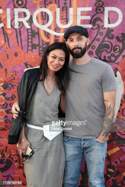Boh Runga and partner Troy McKubre attend opening night of Cirque du Soleil KOOZA on February 15 2019 in Auckland New Zealand