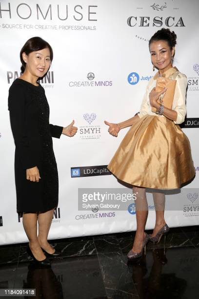 Boh Yeon Han and Heather Choi attend PAGANINI HONORS PAGANINI A Tribute To Niccolo Paganini By Maria Elena Paganini on October 28 2019 in New York...