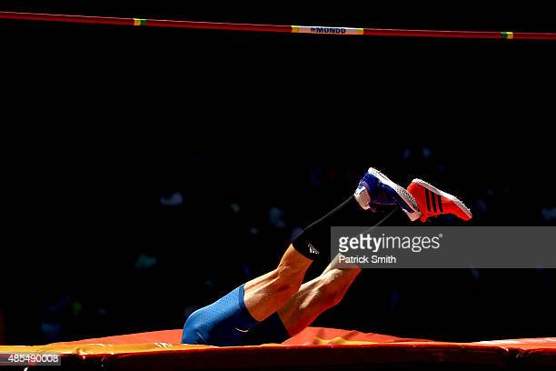 Bohdan Bondarenko of Ukraine competes in the Men's High Jump qualification during day seven of the 15th IAAF World Athletics Championships Beijing...