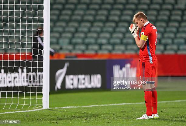 Bohdan Sarnavskyi of Ukraine says a prayer before kick off in the FIFA U20 World Cup round of 16 match between Ukraine and Senegal at the North...