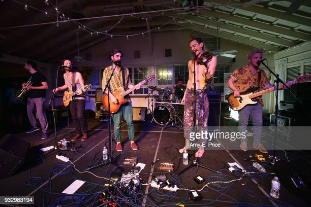 Bohemian Betyars perform onstage at Sounds from Hungary during SXSW at Palm Door on March 16 2018 in Austin Texas