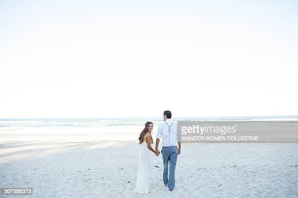 Bohemian couple on the beach near  Byron Bay