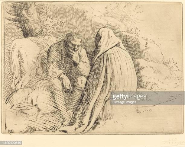 Bohemien Encampment . Artist Alphonse Legros.