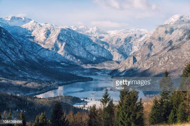 bohinj lake slovenia - slovenia stock pictures, royalty-free photos & images