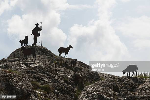 boi, sant joan, shepherd silhouette - eden pastora fotografías e imágenes de stock
