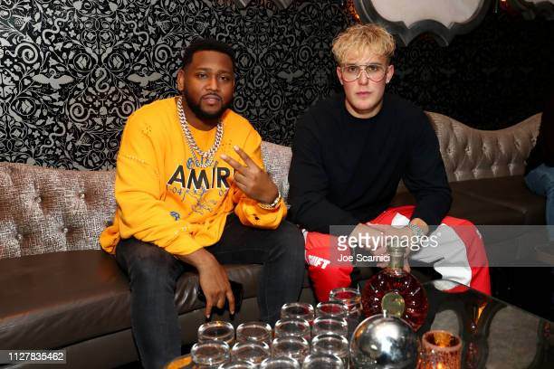 Boi-1da and Jake Paul attend Rémy Martin XO Toasts To Boi-1da's Producer Of The Year Grammy Nomination at Beauty & Essex on February 05, 2019 in Los...