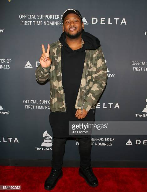 Boi1da attends Delta Air Lines official Grammy event featuring private performance and interactive evening with Halsey at Beauty Essex adjacent to...
