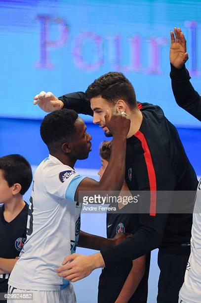 Boiba Sissoko of Creteil and Nedim Remili of PSG during the Lidl Star Ligue match between Paris Saint Germain and Creteil at Stade Pierre de...
