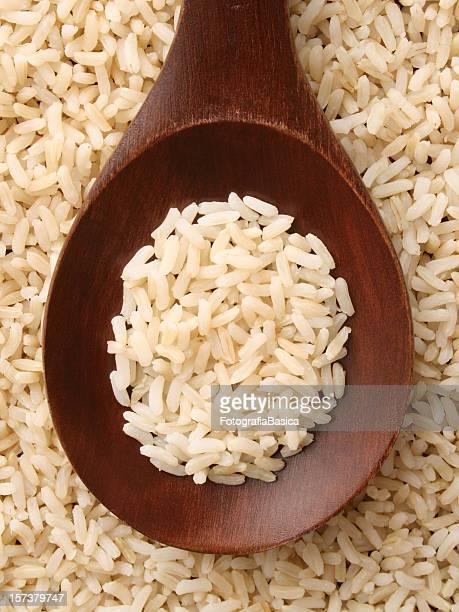 arroz integral cozido - arroz integral - fotografias e filmes do acervo