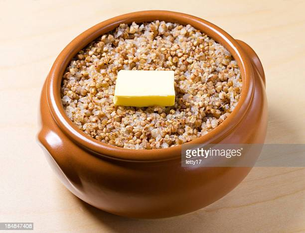 boiled buckwheat - buckwheat stock pictures, royalty-free photos & images