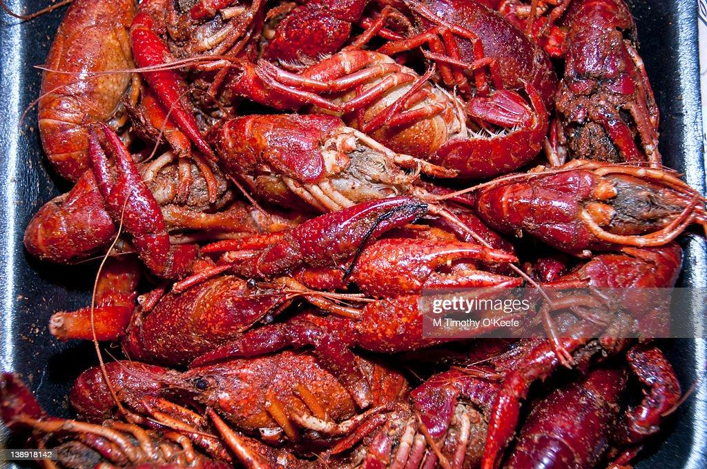 Boiled Crawfish in Pan : Stock Photo