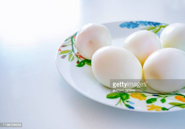 boiled eggs - hard boiled eggs stock photos and pictures