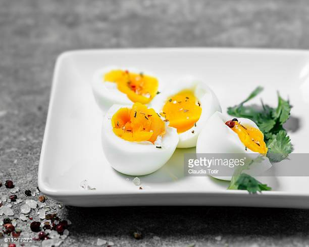boiled eggs - hard boiled eggs stock pictures, royalty-free photos & images