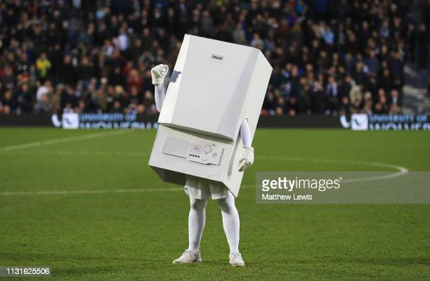 'Boiler Man' mascot at West Bromwich Albion during the Sky Bet Championship match between West Bromwich Albion and Sheffield United at The Hawthorns...