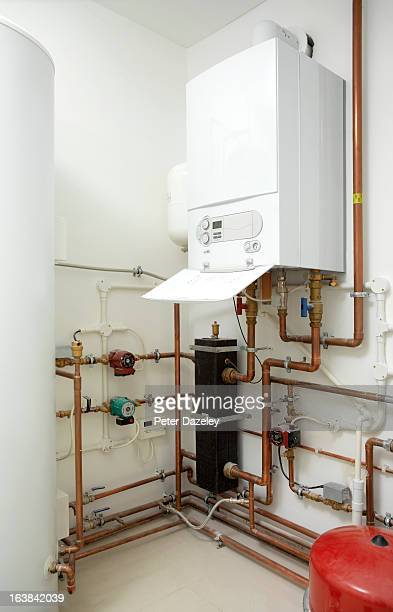 Boiler room in new build house