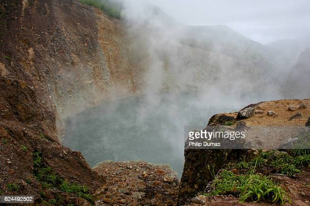 boiling lake dominica - dominica stock pictures, royalty-free photos & images