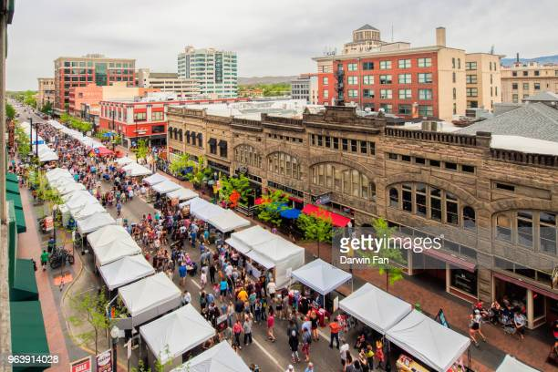 boise farmers market - idaho stock pictures, royalty-free photos & images
