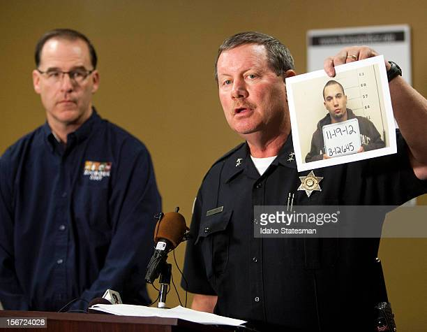 Boise Police Chief Michael Masterson with Zoo Boise Director Steve Burns announced the arrest Monday November 19 2012 of Michael J Watkins Weiser who...