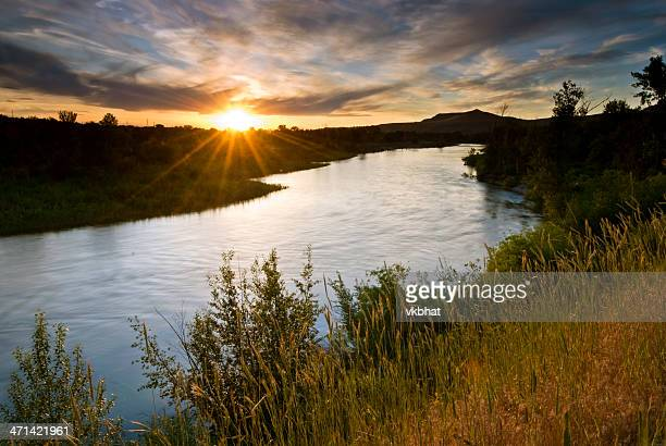 boise river sunset - boise idaho stock pictures, royalty-free photos & images