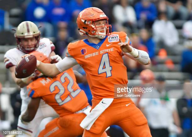 Boise State quarterback Brett Rypien prepares for a pass during the first quarter of the Servpro First Responder Bowl against Boston College on...