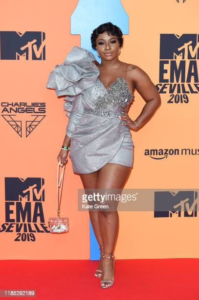 Boitumelo Thulo attends the MTV EMAs 2019 at FIBES Conference and Exhibition Centre on November 03, 2019 in Seville, Spain.