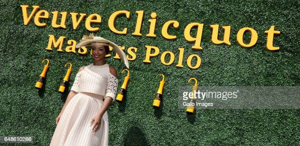 Boitumelo Thulo professionally known as Boity during the 2017 Veuve Clicquot Masters Polo at the Val de Vie Estate on March 04 2017 in Cape Town...