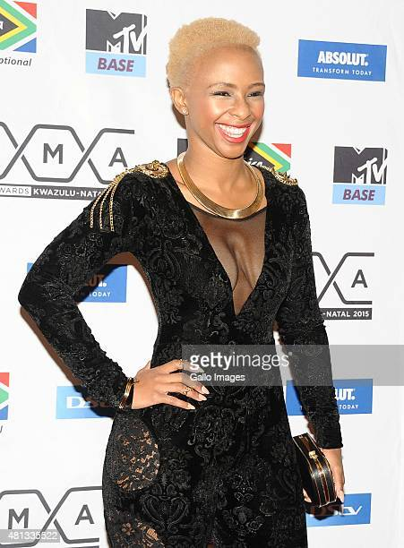 Boity Thulo seen on the red carpet at the 2015 MTV Africa Music Awards on July 182015 at the Durban International Conference Centre in DurbanSouth...