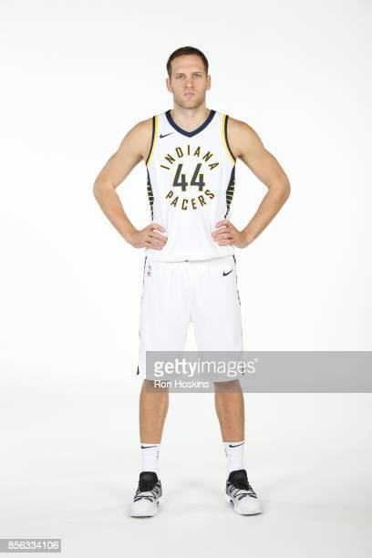 Bojan Bogdanovic of the Indiana Pacers poses for a portrait during the Pacers Media Day at Bankers Life Fieldhouse on September 25 2017 in...